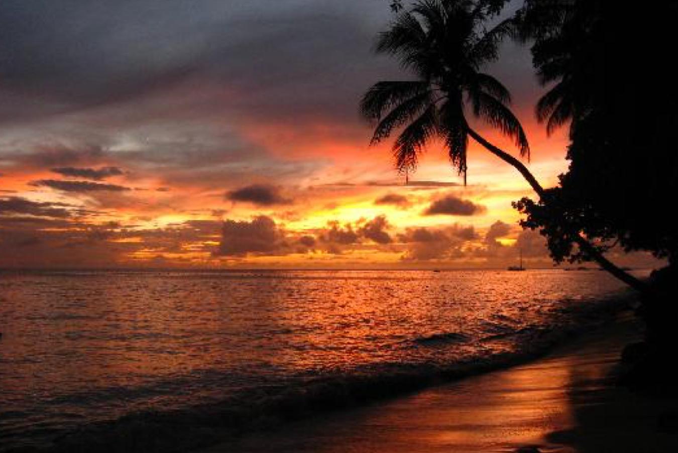 Sunset on the beachfront