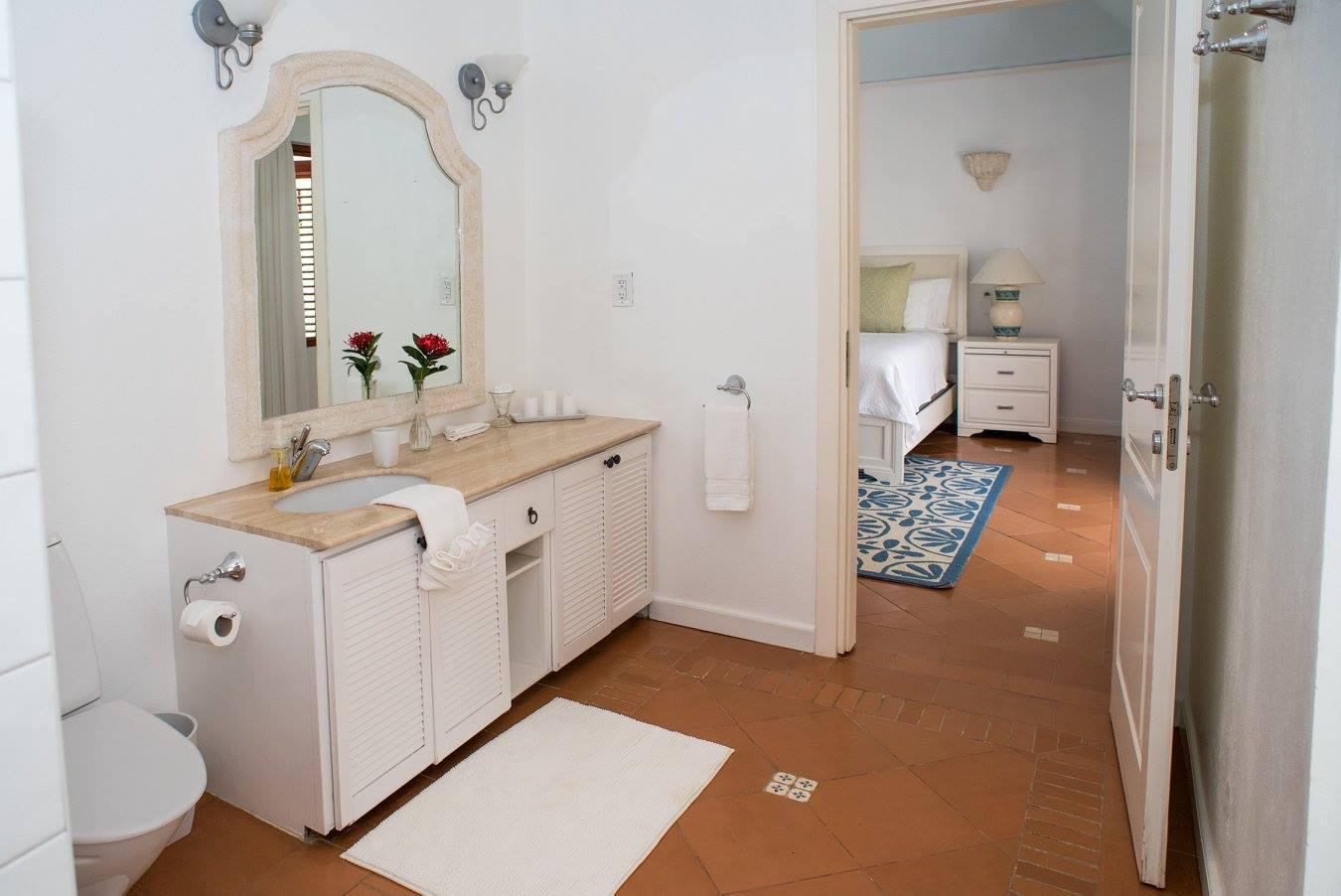 inside of bathroom in Villa Des Anges