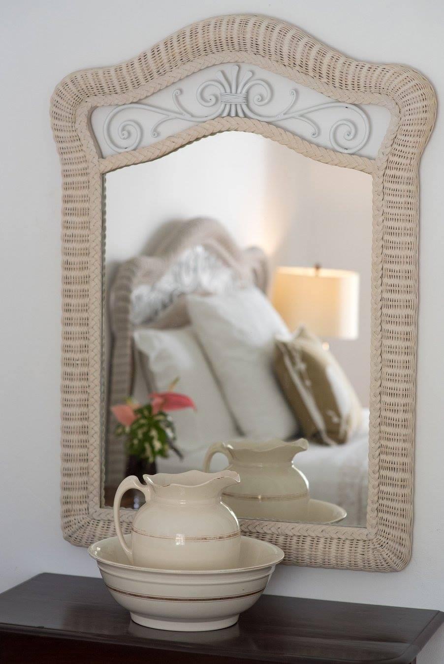 mirror on the wall in a villa in Barbados