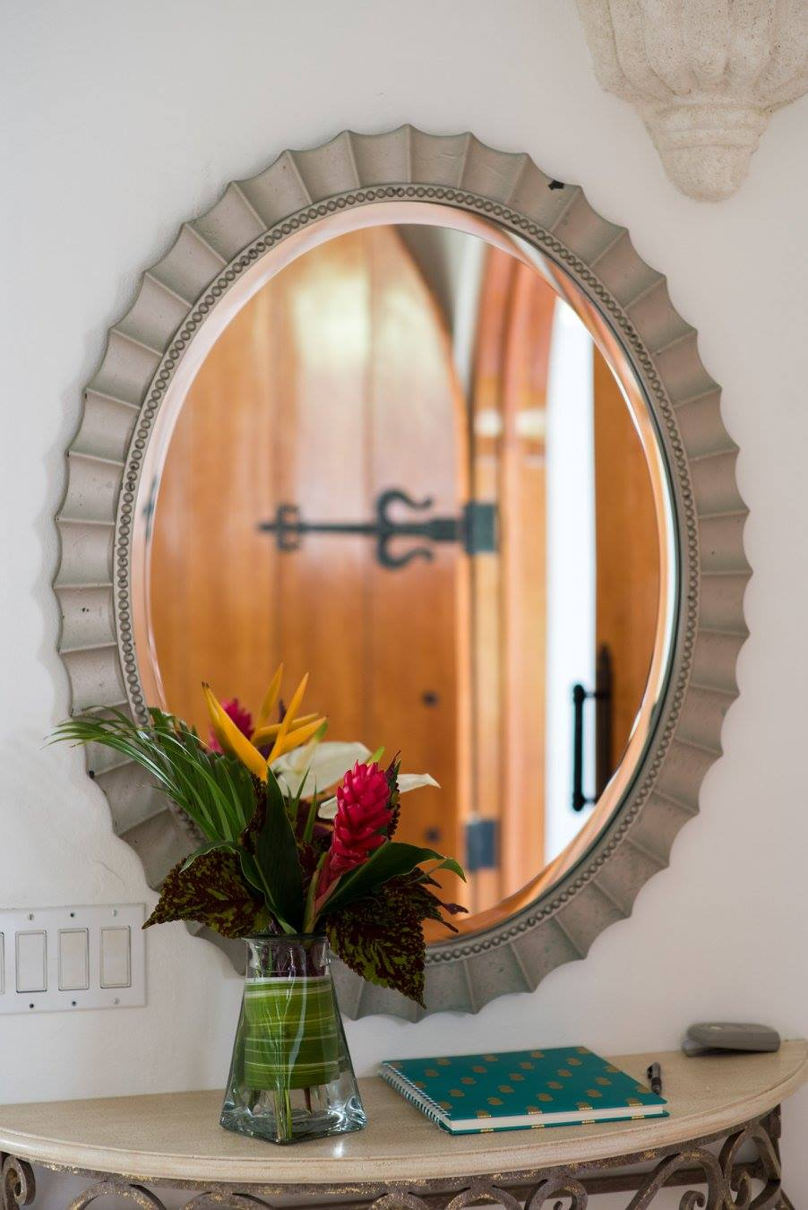 mirror inside a house for rent in Barbados