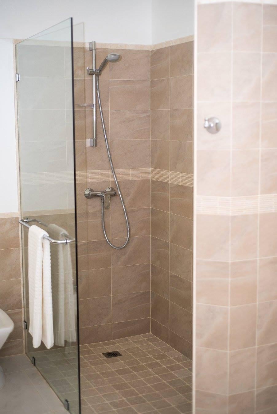 shower inside a villa in Barbados