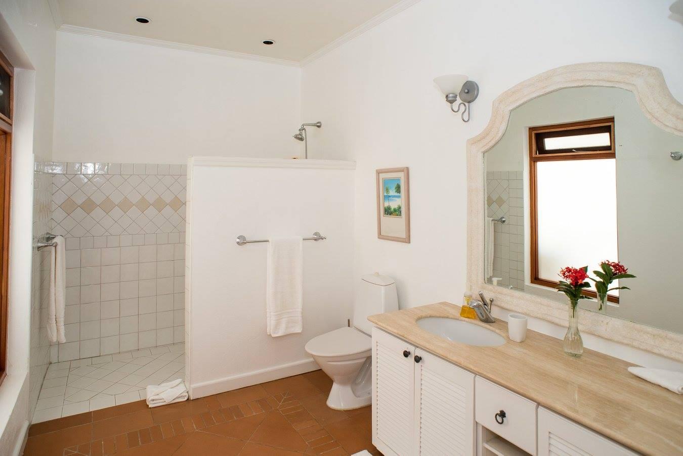 bathroom for a villa to rent in Barbados