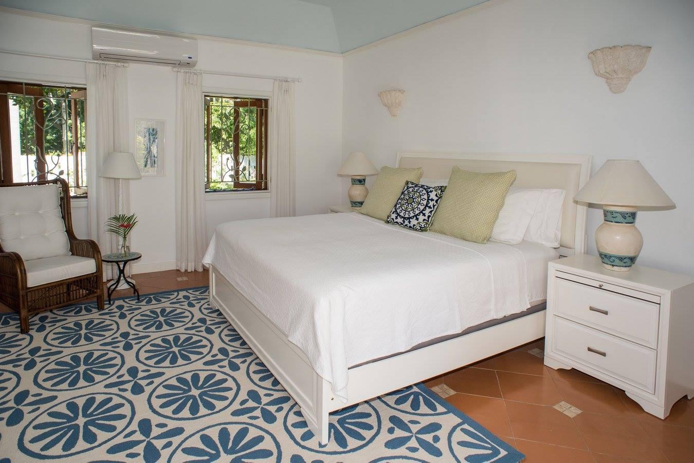 hibiscus bedroom inside a villa to rent in Barbados