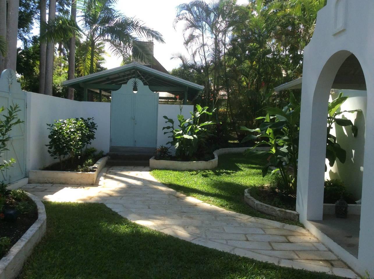 Patio of a Barbados beach house