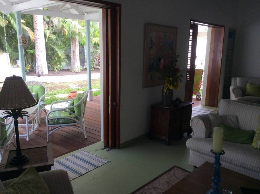 Lounge area for a villa to rent in Barbados