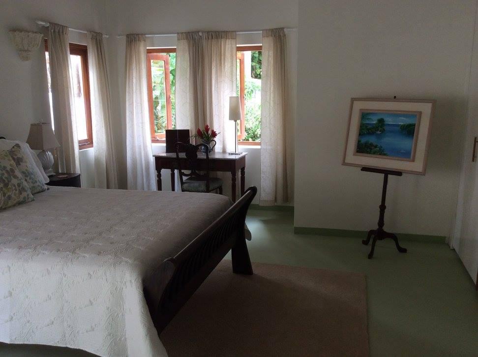 Bedroom inside a villa to rent in Barbados